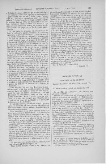 Tome 25 : Du 13 avril au 11 mai 1791 - page 309