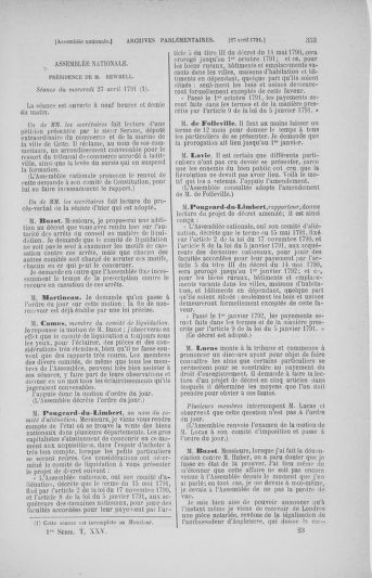 Tome 25 : Du 13 avril au 11 mai 1791 - page 353