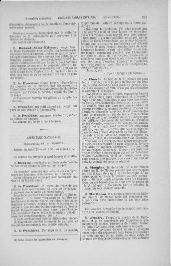 Tome 25 : Du 13 avril au 11 mai 1791 - page 373