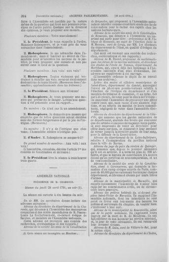 Tome 25 : Du 13 avril au 11 mai 1791 - page 394