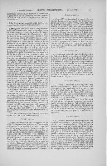 Tome 25 : Du 13 avril au 11 mai 1791 - page 411