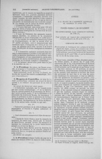 Tome 25 : Du 13 avril au 11 mai 1791 - page 432