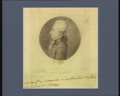 Nicolas comte de Bonneville né au Chamblai le 18 X.bre 1732 député du bailliage d'Evreux : [dessin]