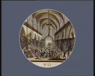 N.o 33 5 aout 1789. Service et eloge funèbre à la mémoire des citoyens morts... : [estampe]