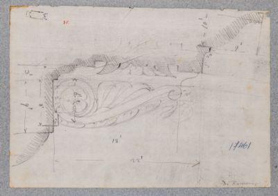 Tempio di Vespasiano, dettaglio di una mensola