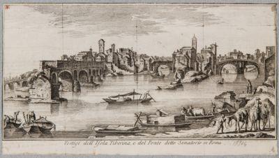 IsolaTiberina, veduta generale a monte di Ponte Rotto