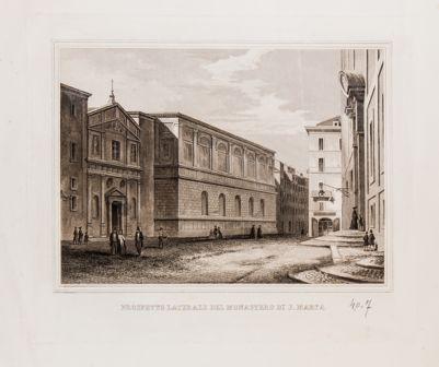Chiesa di S. Marta e monastero, prospetto