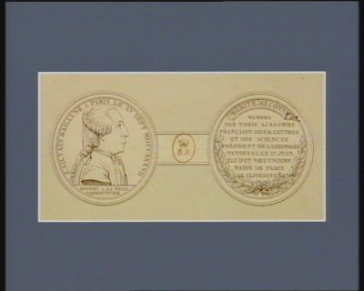 J. Silvain Bailly né <em>à</em> Paris le XV sept. MDCCXXXVII [i.e. 1736] offert <em>a</em> la ville : [estampe]