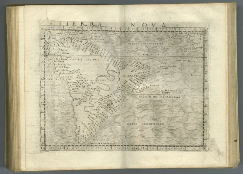 Tierra Nova. (to accompany) Ptolemeo. La geografia di Claudio Ptolemeo alessandrino    ... In Venetia, ... per Gioan. Baptista Pedrezano ... Anni x. M.D.XLVIII (1548)
