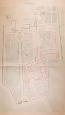 Palatino, pianta del Monastero della Visitazione (Villa Mills); primo piano