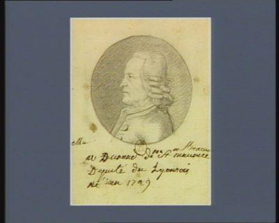 M. Durand de St-Maurice député du lyonnais né en 1729 : [dessin]