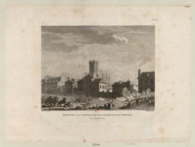 Massacre a La Chapelle, par les chasseurs des barrières en janvier 1791 : [estampe]