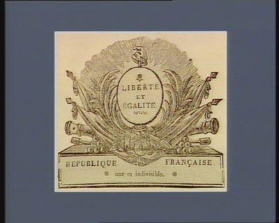Liberté et égalité République française une et indivisible : [estampe]
