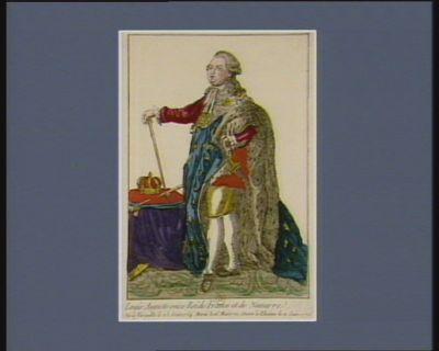 Louis Auguste seize Roi de France et de Navarre né à Versaille le 23 aout 1754 marié le 16 mai 1770, sacré à Rheims le 11 juin 1775 : [estampe]