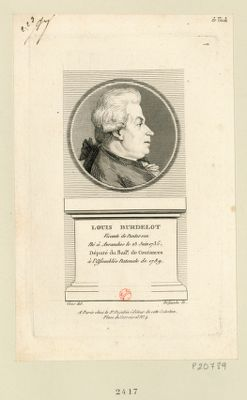 Louis Burdelot vicomte de Pontorson né <em>à</em> Avranches le 23 juin 1735 député du bail.e de Coutances <em>à</em> l'Assemblée nat.onale de 1789 : [estampe]