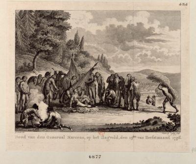 Dood van den <em>generaal</em> <em>Marceau</em> [estampe]