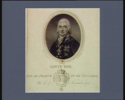 Louis XVIII , Roi de France et de Navarre, né le 17 novembre 1755 qui oserait se venger, quand le Roi pardonne ? Déclaration du Roi 1795 : [estampe]