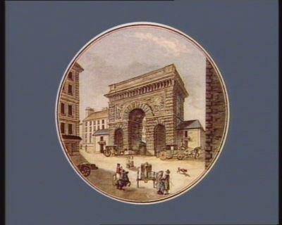 Vue de la porte St Martin [estampe]