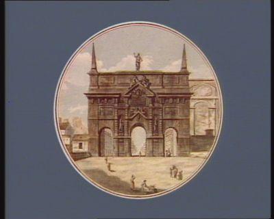 Vue de la porte St Antoine [estampe]