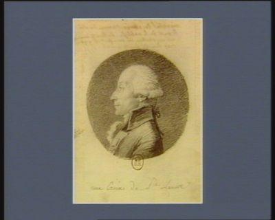Charles marquis de Biencourt maréchal des camps et armée du Roi député de la noblesse de Haute-Marne né au chateau du Musfort le 9 9.bre 1747 dans la haute Marche : [dessin]