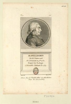 M. Pellegrin curé de Sommercourt né à Bourmont en 9.bre 1732 député de Bassigni à l'Assemblée nationale de 1789 : [estampe]