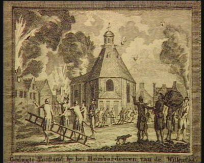Gedugte toestand by het Bombardeeren von de Willemstad [estampe]
