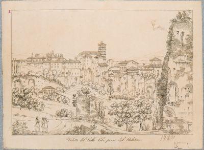 Veduta del Colle Celio presa dal Palatino