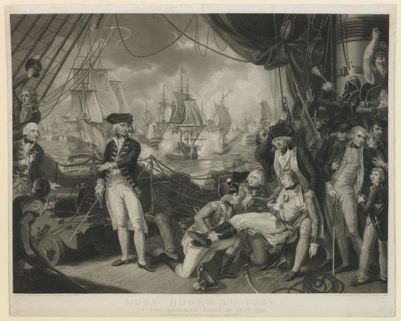 Lord Howe's victory on <em>the</em> glorious first of June 1794 [estampe]