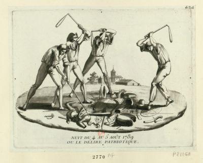 Nuit du 4 au 5 août 1789 ou le délire patriotique [estampe]