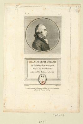Jean Joseph Goyard né à Moulins le 19 avril 1738 député du Bourbonnois à l'Assemblée nationale de 1789 : [estampe]