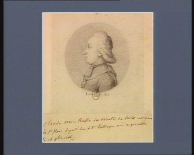 Claude Marie Ruffo des comtes de Laric évèque de St Flour député dudit bailliage né à Grenoble le 16 9.bre 1746 : [dessin]