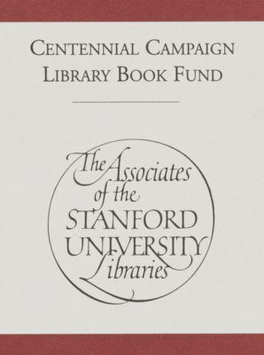 Centennial Campaign Library Book Fund : Associates of the Stanford University Libraries