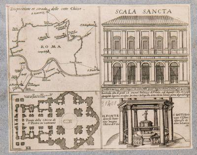 Sette chiese, chiesa di S. Pietro, Scala Santa, battistero di S. Giovanni