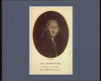J.F. Marmontel né <em>à</em> Paris le 11 juil.t 1723 mort <em>à</em> Abbeville le 29 dec.e 1799 : [estampe]