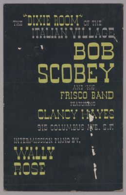 """Bob Scobey and his Frisco Band at the """"Dixie Room"""" of the Italian Village"""
