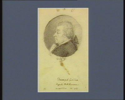Dumas-Gontier député de Libourne né au dit lieu en 1737 : [dessin]