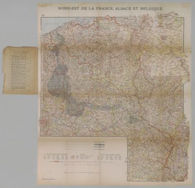 Stanford S Half Inch Map Of The Battle Front Mezieres Sedan