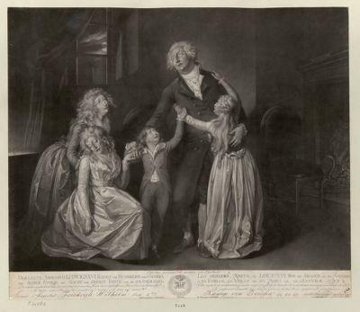 Der  lezte Abschied Ludwigs XVI Koenigs von Frankreich und Navarre, von seiner Familie [estampe]