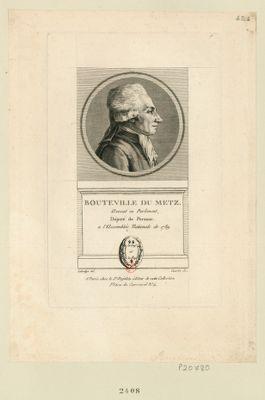 Bouteville du Metz avocat en Parlement, député de Peronne a l'Assemblée nationale de 1789 : [estampe]