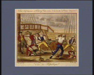 Selis chef timonier, et Thiery pilote-cotierde la corvette la Bonne citoyenne vive la republique. Le 14 thermidor an V : [estampe]