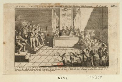 Brissot et 20 de ses complices condamnés à mort par le tribunal révolutionnaire [estampe]