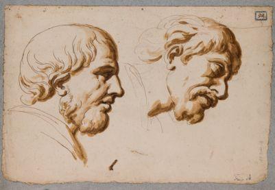 Colonna Traiana, bassorilievi e studi di teste
