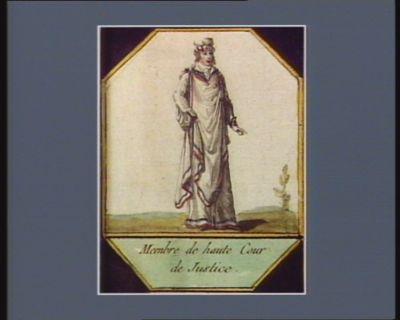 Membre de Haute Cour de justice [estampe]