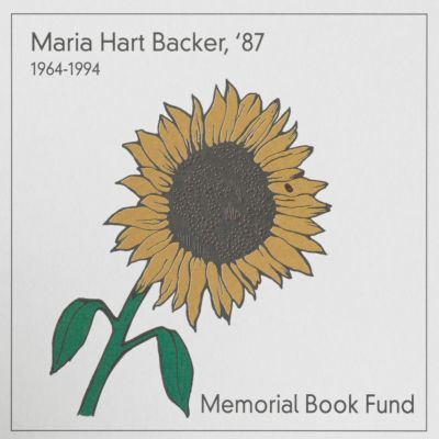 Maria Hart Backer Memorial Book Fund