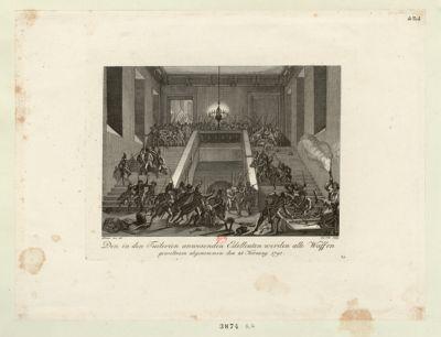 Den in den Tuilerien anwesenden Edelleuten werden alle Waffen gewaltsam abgenommen den 28 Hornung 1791 : [estampe]