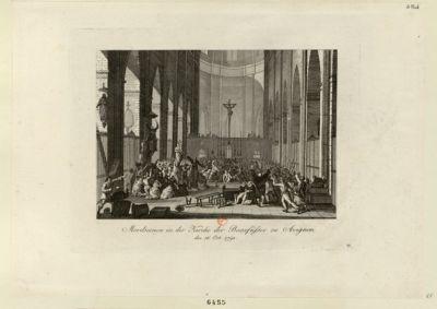 Mordscenen in der Kirche der Baarfüsser zu <em>Avignon</em> den 16. Oct. <em>1791</em> : [estampe]