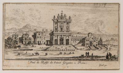 Veduta della chiesa di S. Gregorio a Roma