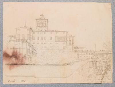 Palazzo del Quirinale. Veduta dall'angolo di via della Stamperia