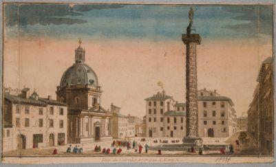 Colonna Traiana, veduta del lato ovest con parte dei lati nord e sud