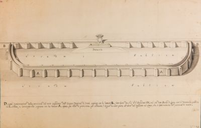 Acquedotto dell'Acqua Vergine di Trevi, costruzione provvisoria per il fontanile